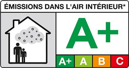 Logo A+ Emissions dans l'air intérieur